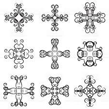 vector set of decorative ornaments calligraphy swirl line graphic