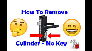 How To Remove A Patio Door by Remove Screen Door Cylinder Without A Key Youtube