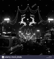 street christmas decorations black and white stock photos u0026 images