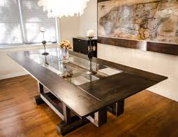 hand made custom industrial contemporary eclectic dining table by