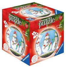 ravensburger ornament snowman 3d puzzle 54