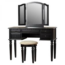 Linon Home Decor Vanity Set With Butterfly Bench Black by Black Vanity Table Set Full Size Of Bedroom Dressing Table Set