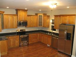 Gray Laminated Wooden Kitchen Cabinet Space Saving Kitchen Ideas - Stainless steel cabinet door frames