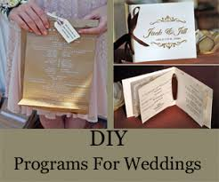 Wedding Ceremony Programs Diy Diy Ceremony Programs Something Borrowed Wedding Diy