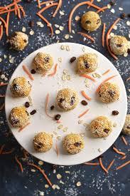 turmeric carrot cake bites gf low cal vegan fitalicious