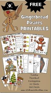 gingerbread pirates worksheets freebie