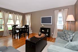 living room and dining room in 1 pictures home combo
