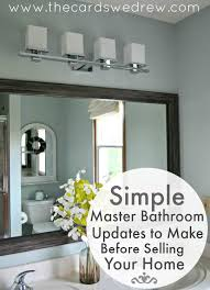 simple master bathroom ideas simple master bathroom updates to make before selling the cards