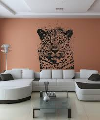 vinyl wall decal sticker spray paint leopard os aa652