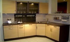 Stainless Steel Kitchen with Glass Furniture Designs at Home Design