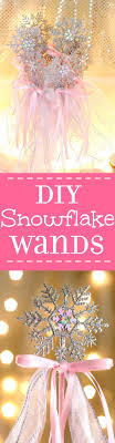 diy snowflake wands table decorations wand and favors