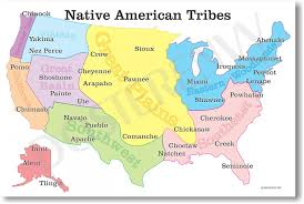 Manifest Destiny Map Amazon Com Native American Tribes Map Us History Classroom