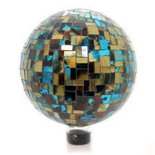 Gazing Globes Home U0026 Garden Blue Mosaic Deco Gazing Ball Gazing Ball Sbkgifts