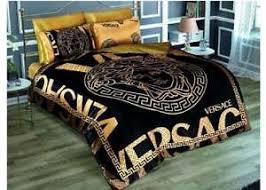 versace black gold medusa satin bed set queen size ebay