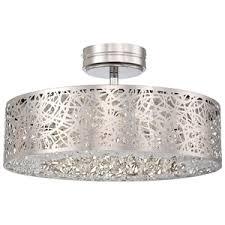 chrome flush mount light kp985077l hidden gems semi flush mount ceiling light chrome at