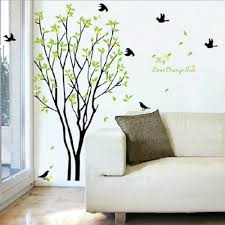 removable wall art aliexpresscom buy plum blossom lotus flowers green beautiful tree and bird room decor art decals vinyl art