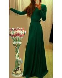 buy bottle green elegant green long dress for null online at flash
