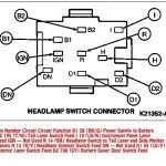 94 95 mustang headlight switch connector diagram inside headlight