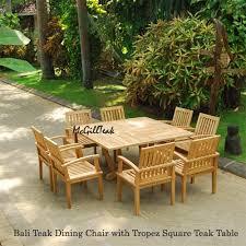 Teak Patio Furniture Set - outdoor table tropez square table