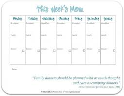 weekly menu templates free 30 family meal planning templates weekly monthly budget tip