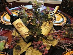 Kitchen Curtains With Grapes by Wine Themed Centerpieces Created The Wine Centerpiece Out Of A