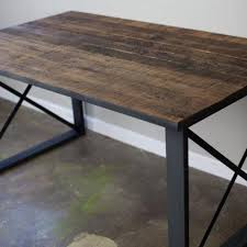 buy a hand made modern industrial dining table desk reclaimed