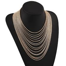 multi layer necklace images Hot maxi collares multi layer necklace gold plated tassle necklace jpg
