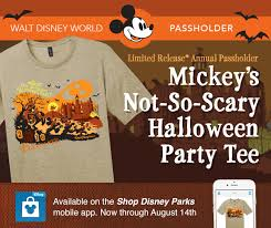annual passholder t shirts available for walt disney world special
