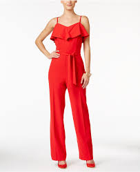 belted jumpsuit thalia sodi ruffled belted jumpsuit only at macys where to buy