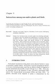 native plant species interactions among non native plants and birds springer