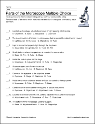 parts of the microscope printables word searches and more