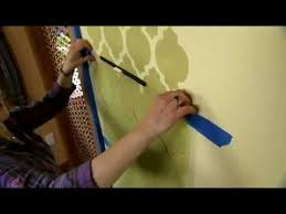 how to stencil a feature wall using a wall stencil by cutting edge