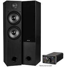home theater tower speakers tower speaker pair t652 and dta 120 stereo amp bundle