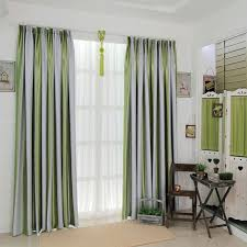 popular of gray and white striped curtains and blue and white