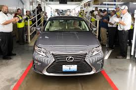 lexus dealership derby my old kentucky homecoming u s lexus production begins in