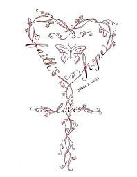 strength infinity symbol butterfly cross design by