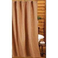 Black Ticking Curtains Country Shower Curtains Primitive Country Burlap Shower Curtain