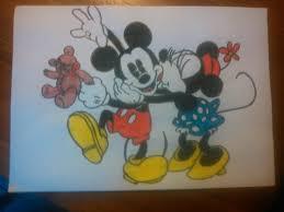 mickey minnie mouse drawing liesannevanede deviantart