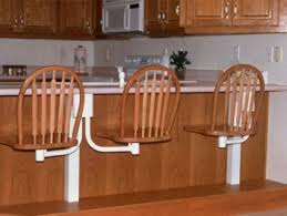 Oak Bar Stool With Back Snack Bar Chairs Arrow Bow Back Oak Bar Stools With White Finish