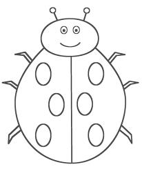 free printable ladybug coloring pages for kids with ladybug