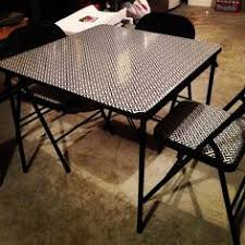 how big is a card table how to recover a card table and chairs with vinyl fabric vinyl