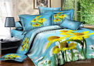 Wholesale yellow flowers duvet cover set queen bed linen sheet ...