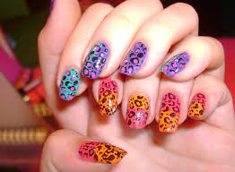 cheetah print nails for the woman of fiery personality