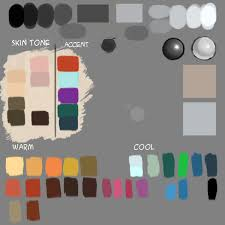 make custom color palette for digital painting drawing and