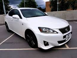 lexus cars 2012 2012 61 reg lexus is250 f sport stunning pearl white with