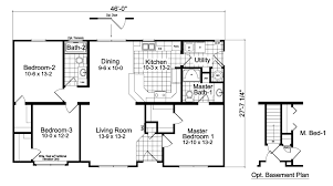 1 Bedroom Modular Homes by Modular Homes Oakdale 3 Bedroom 2 Bath