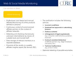 cure web u0026 social media monitoring service presentation