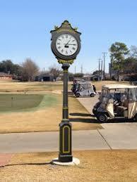 Outdoor Pedestal Clock Thermometer Outdoor Solar Golf Clocks