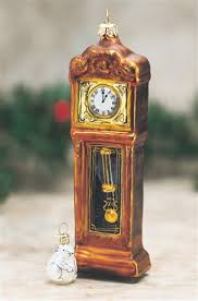 grandfather clock with mouse glass ornament the
