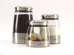 furniture glass kitchen canisters with stainless steel lid and